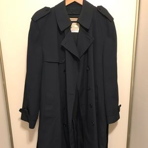 London Fog navy blue trench coat/overcoat